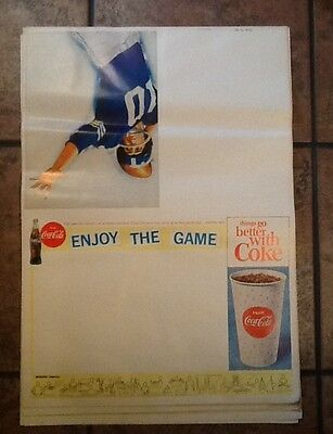 Lot of 15 Old Vintage 1960's COCA COLA Sports Poster Program Covers - FOOTBALL