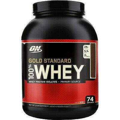 Optimum Nutrition 100% Whey Gold Standard 5 Lb (2,3Kg) [Sabor: Chocolate con cre