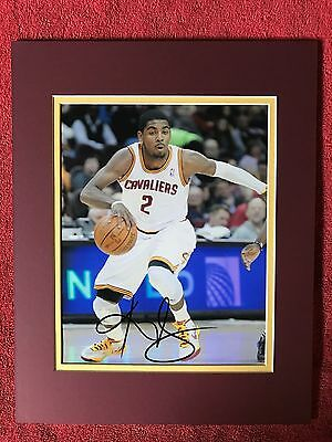 Kyrie Irving,Cleveland Cavaliers Star!! autographed 8x10 photo. Matted, COA! NBA