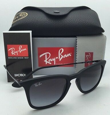 9510f29bf99 NEW RAY-BAN SUNGLASSES RB 4222 622 8G 50-21 Black Rubber Frame w ...