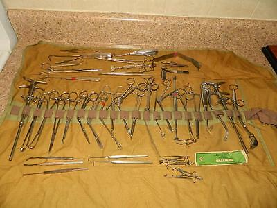 Vintage Military Field Surgical Instruments - Tools Medical Set