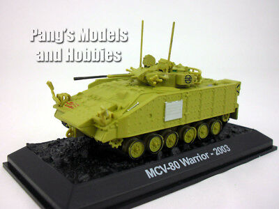 MCV-80 Warrior Tracked Armored Vehicle 1/72 Scale Diecast Model by Amercom