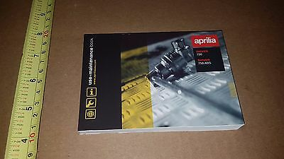 Aprilla Shiver 750 / 750 Abs Owners Manual Use + Maintenance Part # 865736