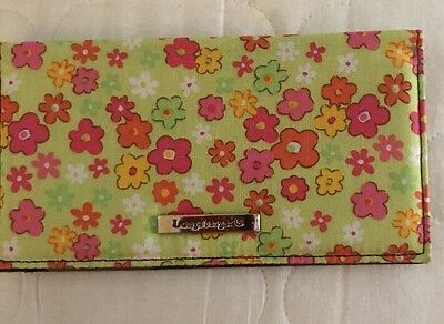 Longaberger Checkbook Cover Posy Patch Fabric Sisters New
