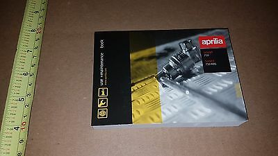 Aprilla Shiver 750 / 750 Abs Owners Manual Use + Maintenance Part # 894156
