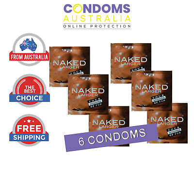 Four Seasons Naked Larger Condoms 6 FREE SHIPPING