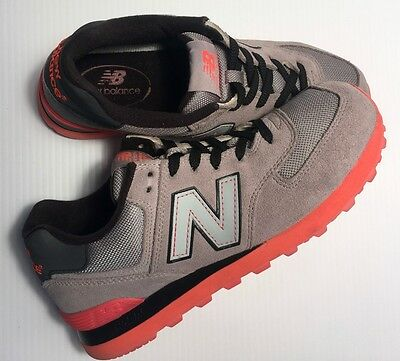 New Balance 574 NRG Grey/neon orange/black Men's Sneakers Size:US9