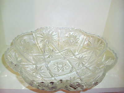 "RARE Early American Prescut EAPC Anchor Hocking  11 3/4"" Paneled Bowl"
