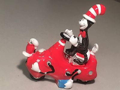 ~Cat In The Hat~ Clean Up Machine Salt And Pepper Shakers #F575 *RARE*