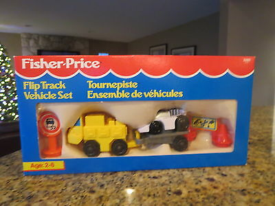 Fisher Price Flip Track Set Sealed In Box Truck Trailer And Race Car