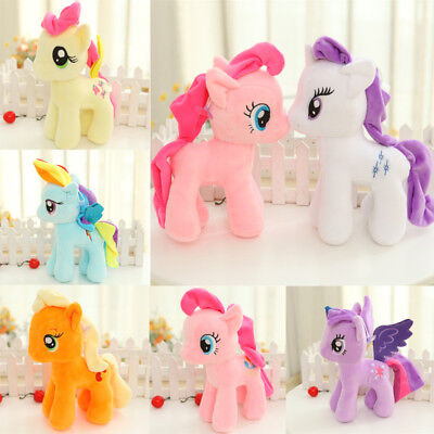 Cute My Little Pony Horse Figure Stuffed Plush Soft Teddy Doll Toy Kids Toy New
