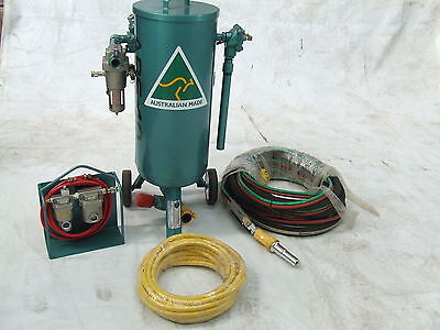 Sandblast Pot Package 40 Litre Helmet Blast Hose Breathing Kit Tungsten Nozzle