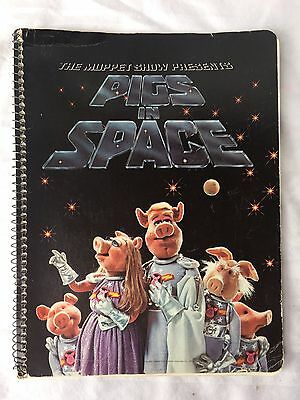 Vintage Original THE MUPPET SHOW Pigs in Space Notebook Miss Piggy