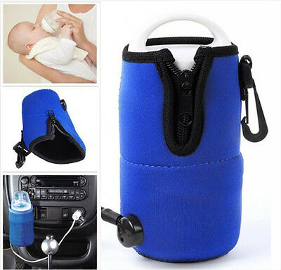 Portable DC 12V In Car Baby Bottle Heater Food Milk Travel Cup Warmer Heater US