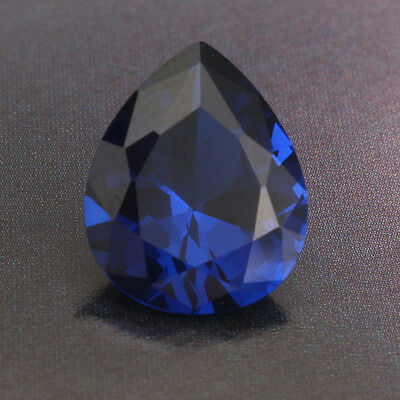 5.26ct UNHEATED Sapphire 9mm x 11mm Pear Cut Blue Loose Stone Gemstone Jewelry