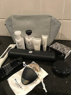 NEW 2017 Emirates FIRST CLASS Suites Leather BVLGARI Airline Amenity Kit
