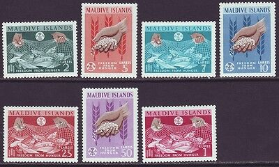 Maldive Islands 1963 SC 117-123 MH Set Freedon From Hunger