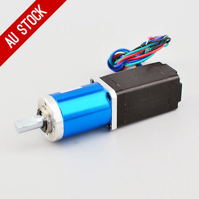 90:1 Planetary Gearbox Nema 8 Stepper Motor 0.6A 4-wires Low Speed High Torque
