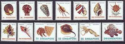 Singapore 1977 SC 263-275 MNH Set Shell