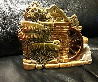 "McCOY ""Down by the Old Mill Stream"" Planter Ceramic Vintage Collectible Pottery"
