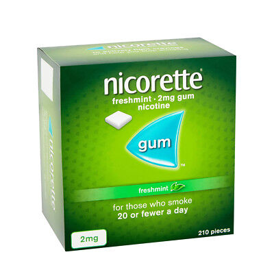 Nicorette Sugar Free 2mg fresh-mint chewing gum 210 Pieces pack