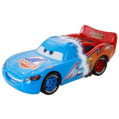 MT Cars 2 Dinoco Transforming Lighting McQueen Metal Toy Car 1:55 Loose Vehicle