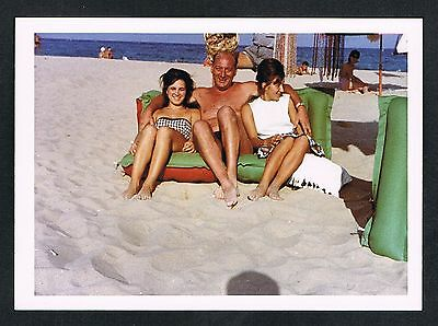 FOTO vintage PHOTO, Frau Strand Bademode Mann man woman swimwear beach /57k