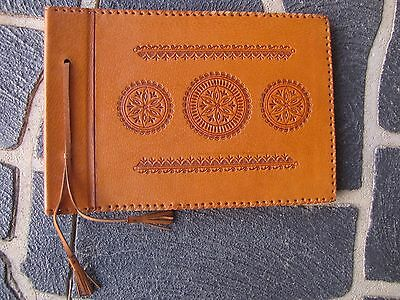 Hand Made In Poland LEATHER PHOTO ALBUM - Kitsch / Boho / Mid Century/Vintage