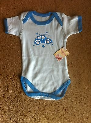 Baby Boys Brand New Body Suit For 6-12 Month Old In Light Blue