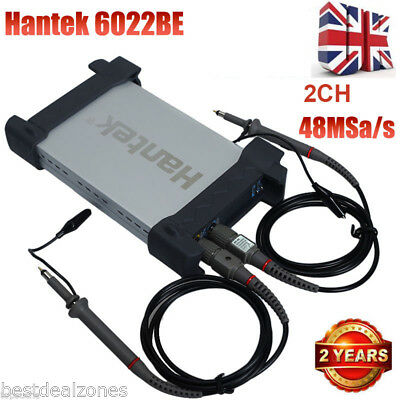 HANTEK USB 2CH Digital PC Based Oscilloscope 20MHz 48M Sa/s 6022BE 2 Channels UK