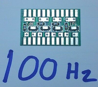 100 Hz - Rockford Fosgate PUNCH amplifier Xcard crossover Plug-in card HP/LP x