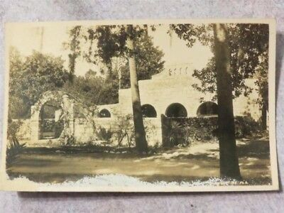 Vintage 1930s RPPC Postcard: Fountain of Youth Spring House St Augustine Florida