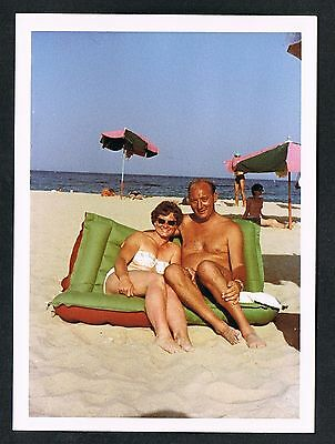 FOTO vintage PHOTO, Frau Bikini Strand woman swimwear beach femme plage /59t