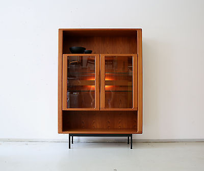 70er DYRLUND TEAK VITRINE HIGHBOARD REGAL KOMMODE DANISH 70s CABINET 60er 60s
