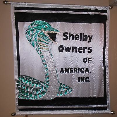 """Very Rare Vintage 1980's """"shelby Owners Of America"""" Banner 43 X 49"""""""