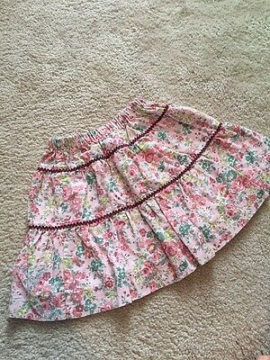 Pink Floral Tierred Skirt By Papo D'anjo Size 2