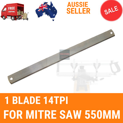1X Mitre Saw Blade 550mm 14TPI For Manual Precision Mitre Saw 550mm saw Woodwork