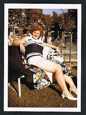 FOTO vintage PHOTO, Frau im Garten, woman in the garden, femme jardin /60ab