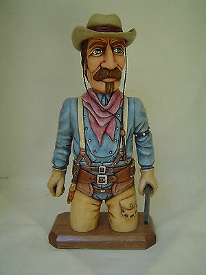 Carved Wooden Figure of US Cowboy