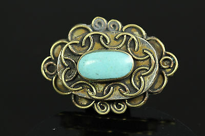 Near Eastern Ancient Turquoise Bronze Ring