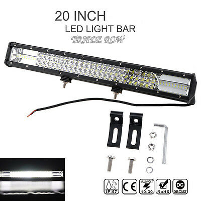540W 20Inch Bar Philips Led Light Spot Flood Offroad Work Driving Lamp ATV 4WD