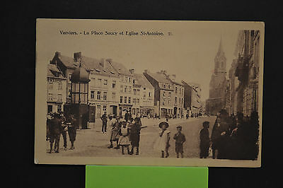 Cp - Ancienne Carte Postale - Verviers La Place Saucy Et L'eglise St Antoine