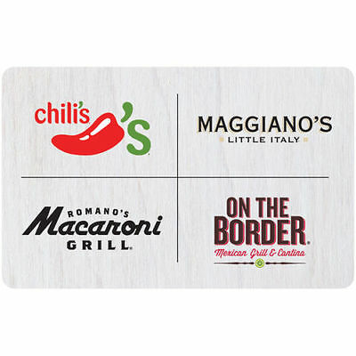 Romano's Macaroni Grill, Chili's, On the Border or Maggiano's Two $25 Gift Card!