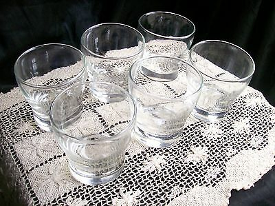 LIBBEY JUICE Glasses~clear~Lot of 6 ~Rocks~Lowball Cocktail CUPS