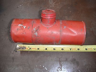 Vintage Old Small Engine Round Metal Gas Tank - Very Clean Inside