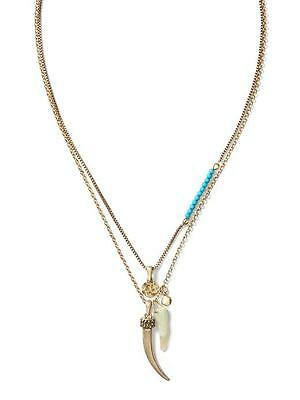 Banana Republic Tassel Charm Necklace Size One Size Coral NWT $49.50