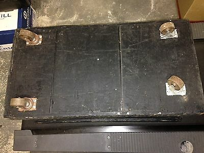 Antique/Vintage Wood Tool Box Trunk With 3 Removable Trays