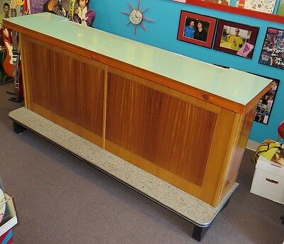 1950s ice cream parlor counter & 2 diner stools. Soda fountain