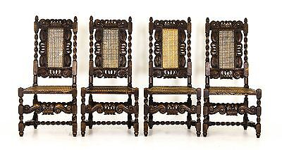 Antique Chairs | Jacobean | Barley Twist | 4 Walnut Chairs | Scotland, 1880