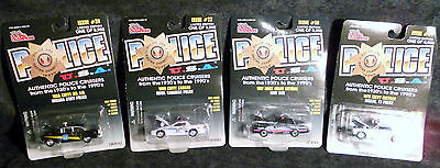 racing champions police U.S.A 1:64 scale Die-Cast police cars (Total of 4)